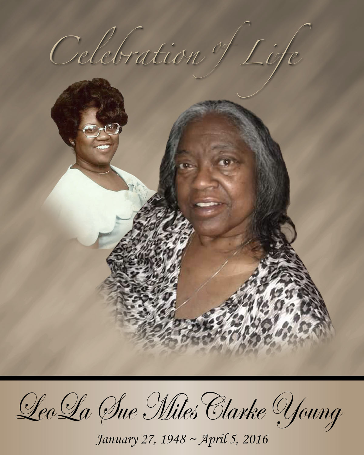 In Loving Memory of Leola Sue Miles Clarke Young